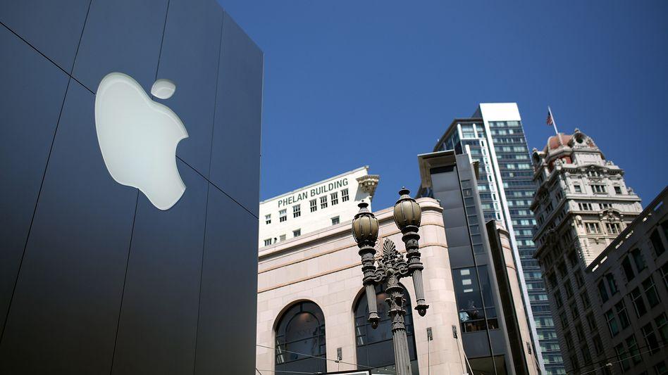 Apple Store in San Francisco, Kalifornien: Schlechte Quartalszahlen, aber besser als erwartet