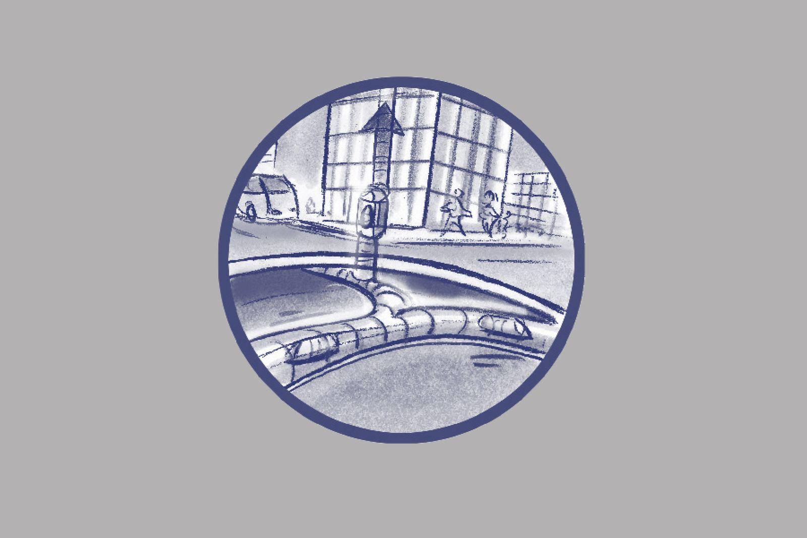 EINMALIGE VERWENDUNG ILLUSTRATION / Wie wir uns morgen bewegen werden / 15 Der City-Maulwurf