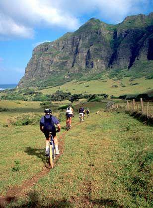 Auf in die Berge: Bei Mountainbiketouren erleben Urlauber ein anderes Hawaii als am Strand von Waikiki