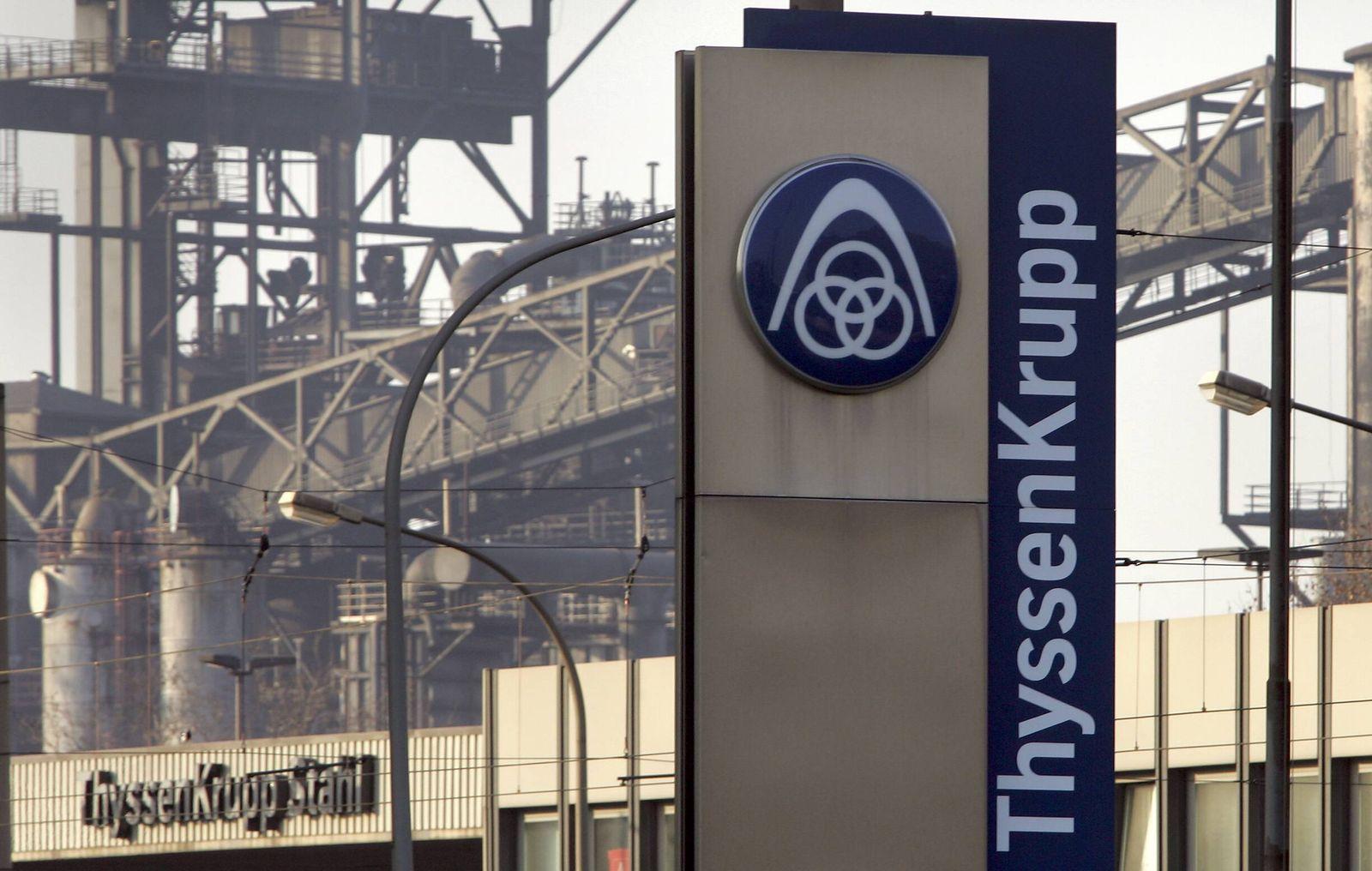 NICHT VERWENDEN ThyssenKrupp passt nach neun Monaten Prognose nach unten an