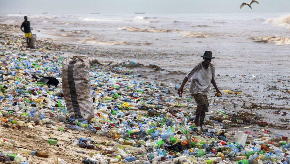 Dieser Strand in Ghana ist mit Plastik überflutet - und kein Einzelfall.