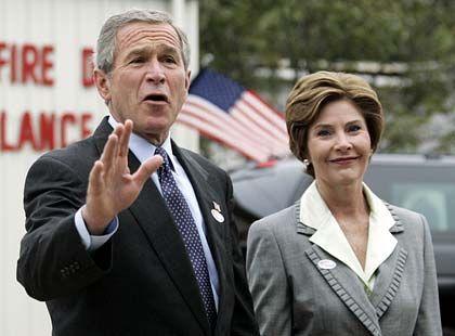 George Bush nach der Stimmabgabe: Der Amtsinhaber hat große Chancen auf eine zweite Amtszeit