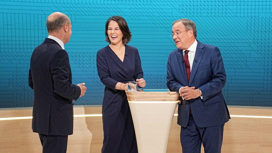 Spitzenpersonal Laschet, Baerbock, Scholz (v.r.): Parteien sollten denken wie Aufsichtsräte