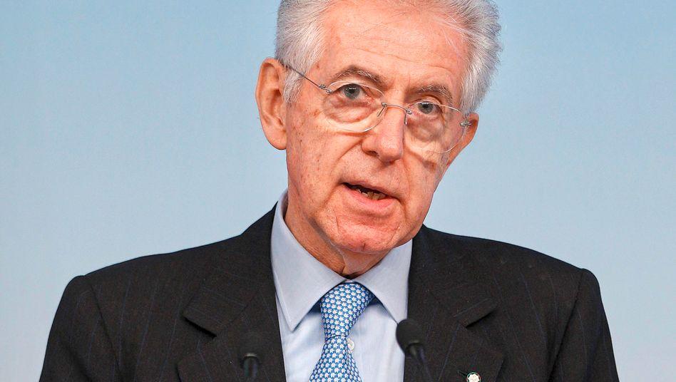 Italiens Premier Mario Monti: Protest gegen Europa droht in Italien