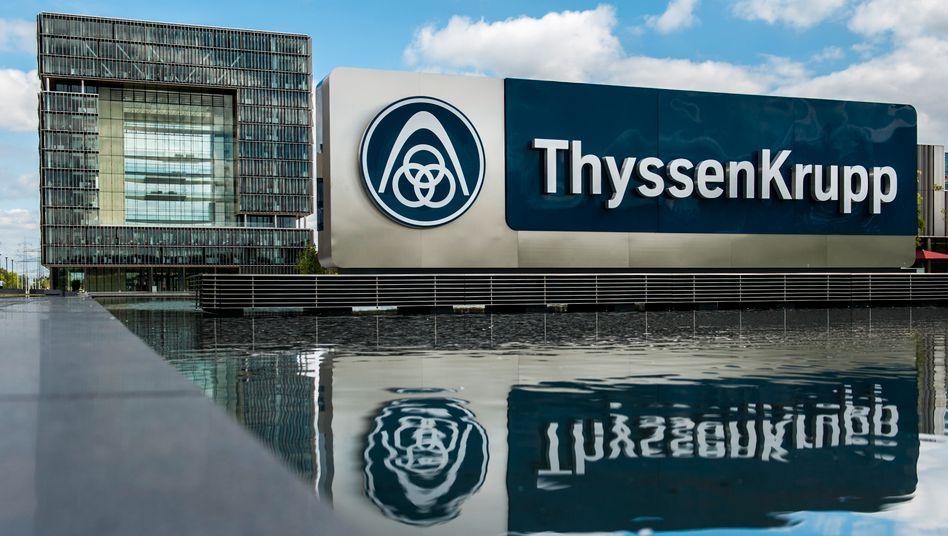 Konzern in der Krise: ThyssenKrupp-Zentrale in Essen