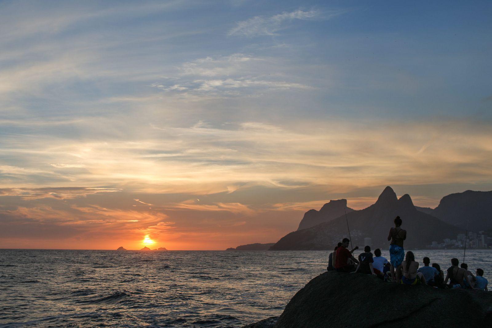 Brazilien / Rio de Janeiro / Sonnenuntergang