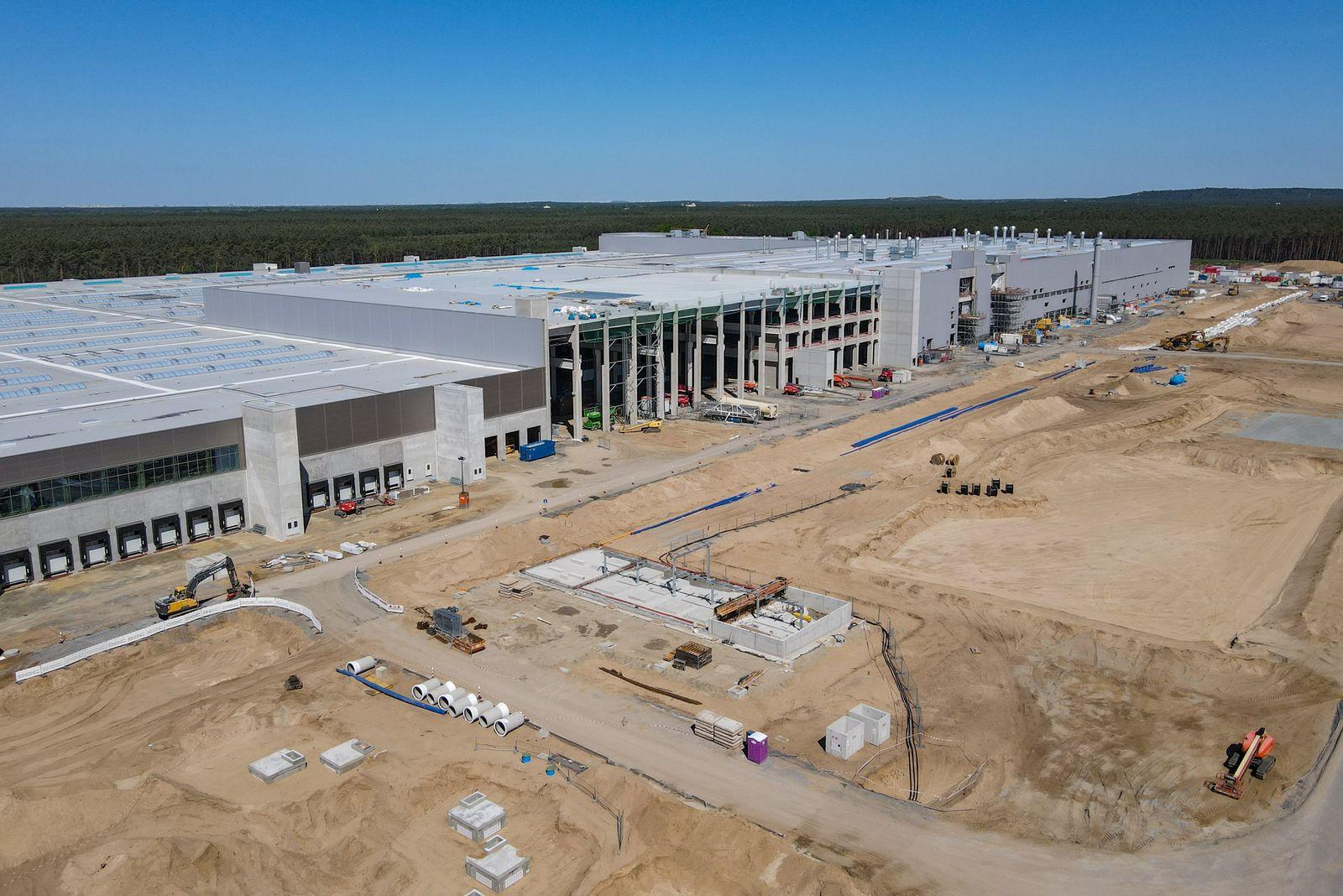 Baustelle Tesla Gigafactory