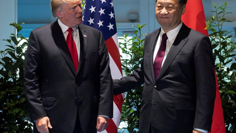 US-Präsident Donald Trump mit seinem chinesischen Kollegen Xi Jinping