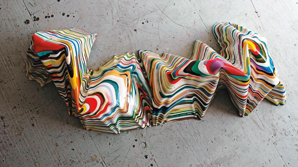 Die Skulptur EVERYWHEREALLTHETIMEEVERYTHING des Künstlers Markus Linnenbrink