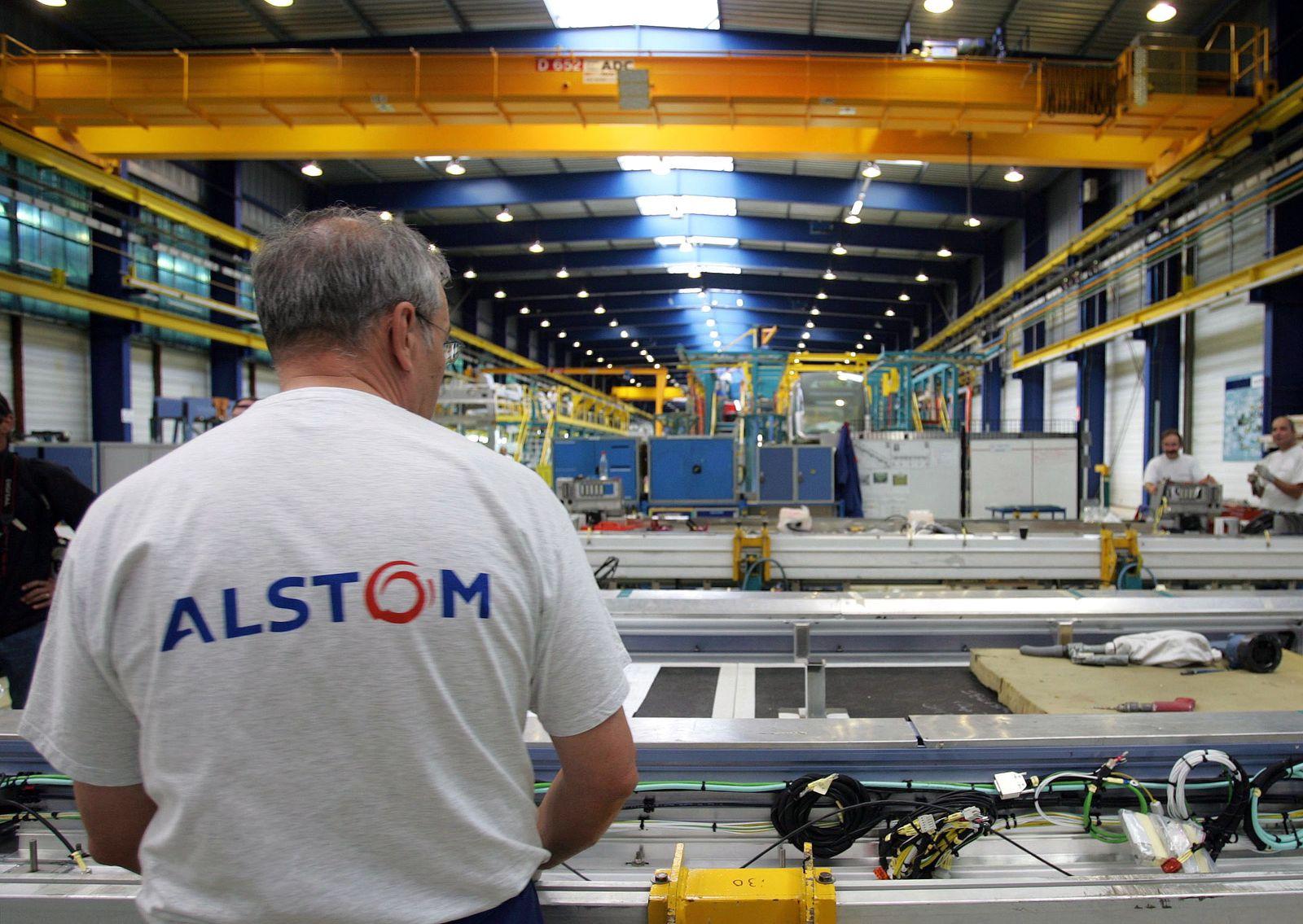 Frankreich / Alstom Fabrik / Bahntechnikunternehmen