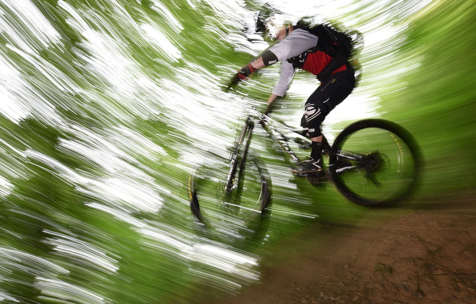 Fahrrad fahren im Wald