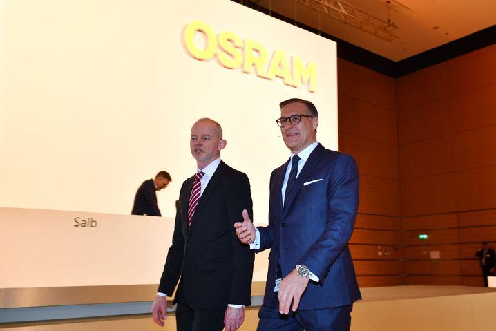 Abmarsch: Peter Bauer und Olaf Berlien (r.) werden Osram verlassen