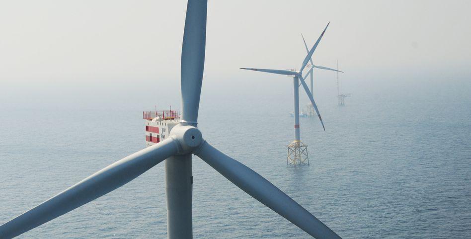 Offshore-Windpark in der Nordsee: Mitsubishi will helfen, den auf See erzeugten Strom an Land zu bringen