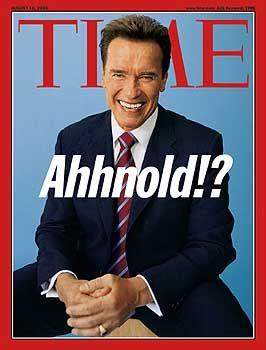 Arnie auf dem Cover des Time Magazine: Vielleicht nicht der Beginn einer Politikerkarriere, aber in jedem Fall ein gutes Geschäft