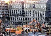 World-Trade-Trümmer: Die Katastrophe vom 11. September zehrt den Gewinn auf