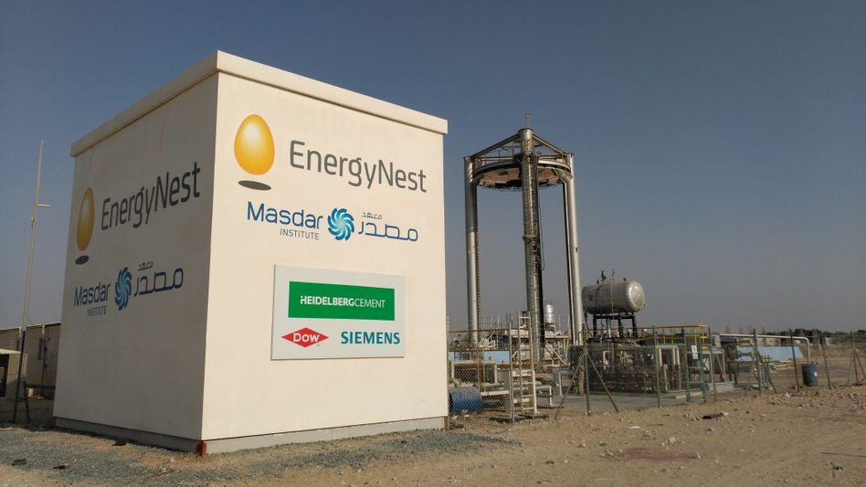 Energiespeicher von EnergyNest in Masdar City (Abu Dhabi)