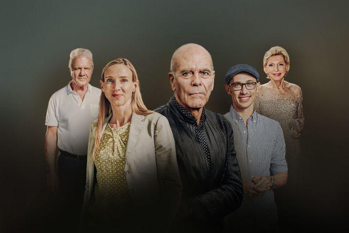 Fünf aus 500: Dietmar Hopp, Simone Bagel-Trah, Peter Harf, Tobias Lütke, Maria-Elisabeth Schaeffler-Thumann.