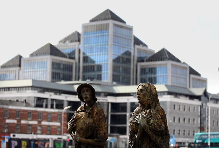 Erinnerungen an die Hungersnot: Denkmal vor den Docklands in Dublin