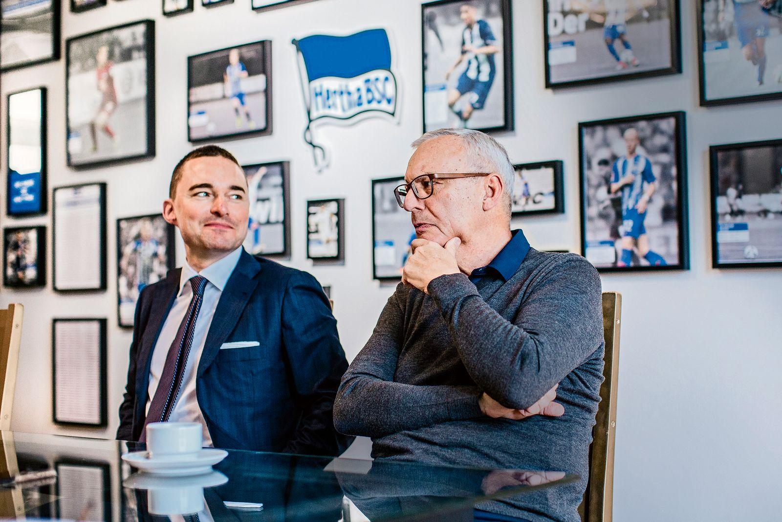 Hertha BSC Praesident Werner Gegenbauer und Unternehmer Lars Windhorst