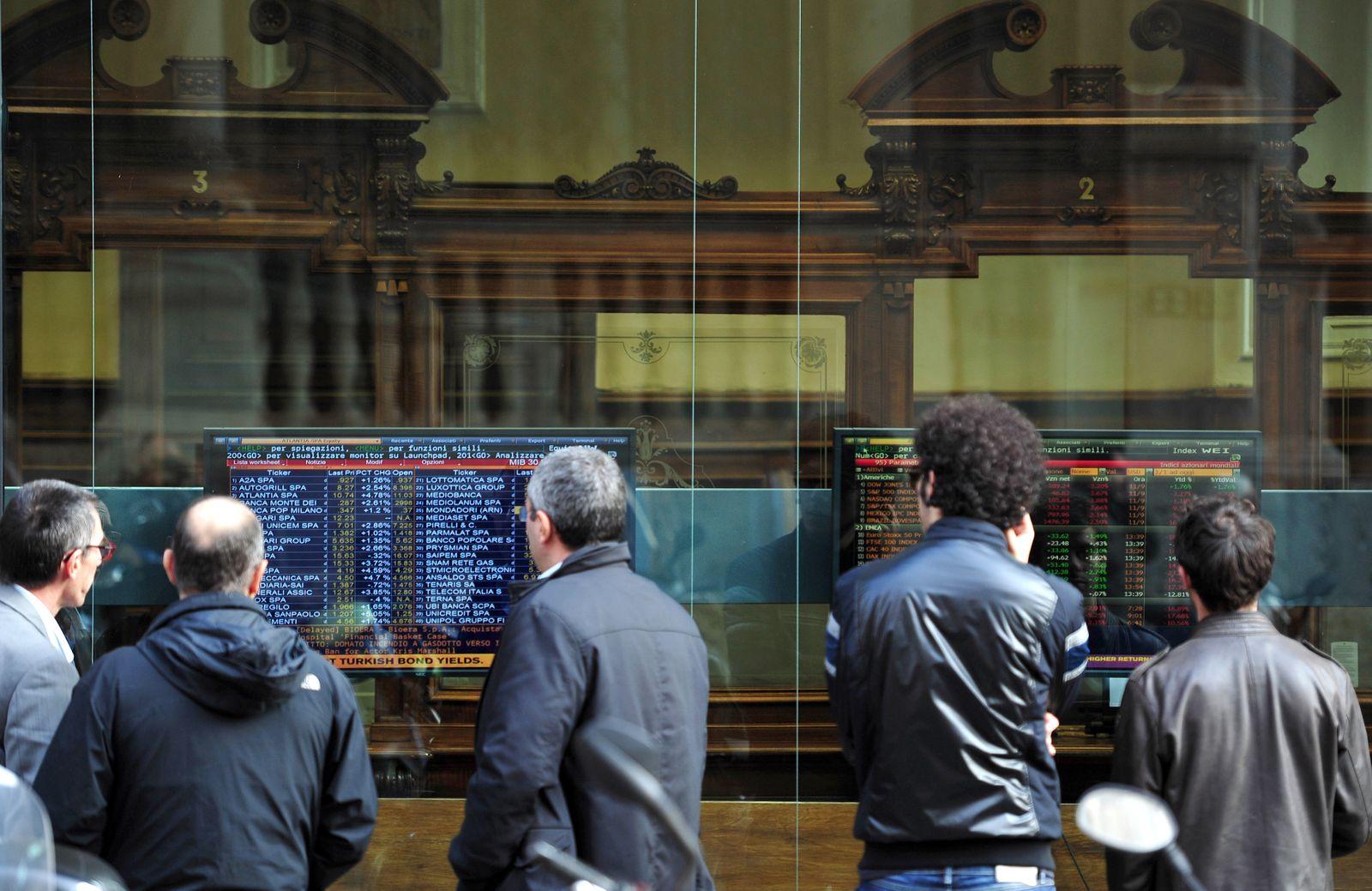 Italien / Mailand / Bankenschaufenster