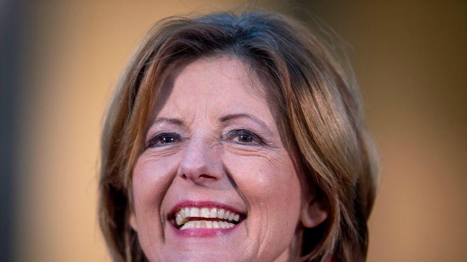 Fröhliche Siegerin: Die amtierende Ministerpräsidentin Malu Dreyer hat in Rheinland-Pfalz rund 34 Prozent der Stimmen für die SPD geholt