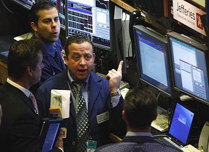 Aufwärts: Die US-Börsen im Plus