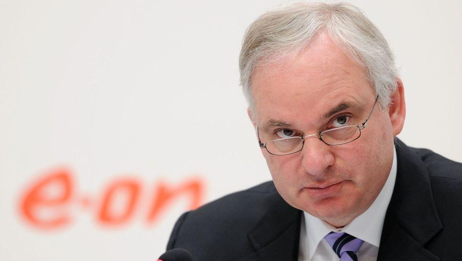 Hat den Blick auf die Probleme des Konzerns geschärft: Johannes Teyssen, Vorstandschef von Eon, hier auf einem Foto von der Bilanz-Pressekonferenz am 12. März 2014.