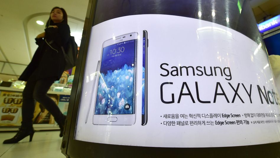 Werbung für Samsung-Smartphone in Südkorea: Konkurrenz aus China