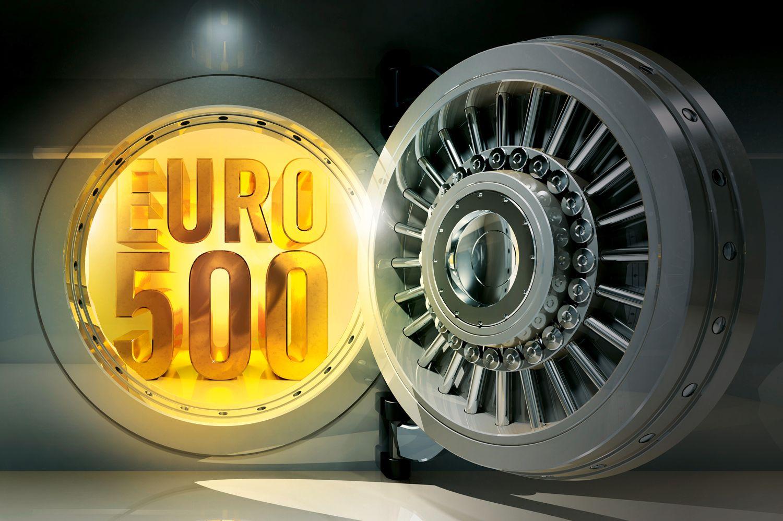 EINMALIGE VERWENDUNG Tresor EURO 500 / gespiegelt