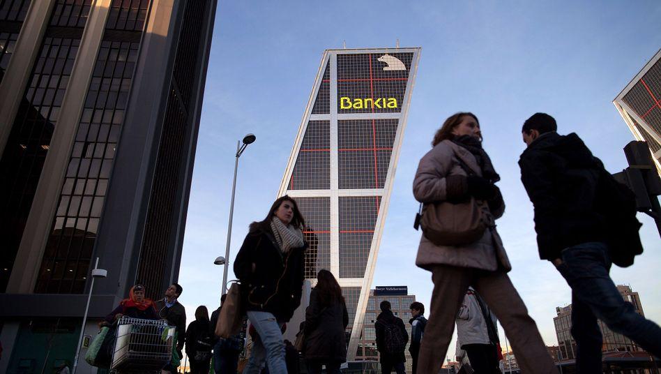 Bankia-Zentrale in Madrid: Prächtiger Bau demnächst vielleicht Sitz eines fusionierten Großinstituts mit Milliardenlasten