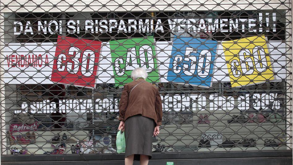 Wirtschaftskrise in Italien: Die Sparmaßnahmen der Regierung würgen das Wirtschaftswachstum ab
