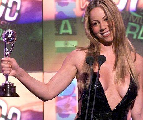 """""""Millennium Award"""" - im Jahr 2000 erhielt Mariah Carey eine Auszeichnung beim World Music Award in Monaco"""