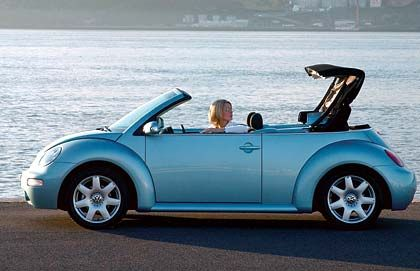 VW New Beetle Cabrio: Knuffiges Stoff-Ei