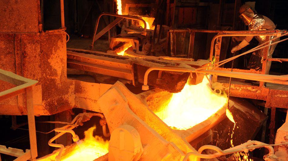 Kupferverarbeitung bei Aurubis in Hamburg: Steigende Metallpreise verbessern die Aussichten des MDax-Unternehmens