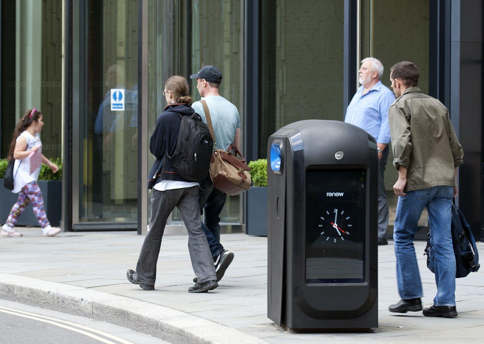 London / Mülltonne / Datenschutz