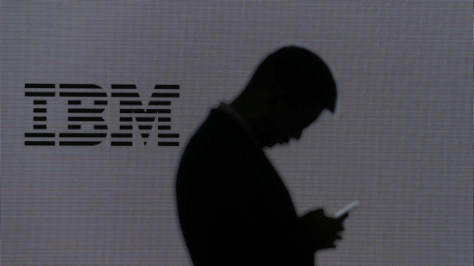 IBM-Logo beim Mobile World Congress in Barcelona (Archivaufnahme)