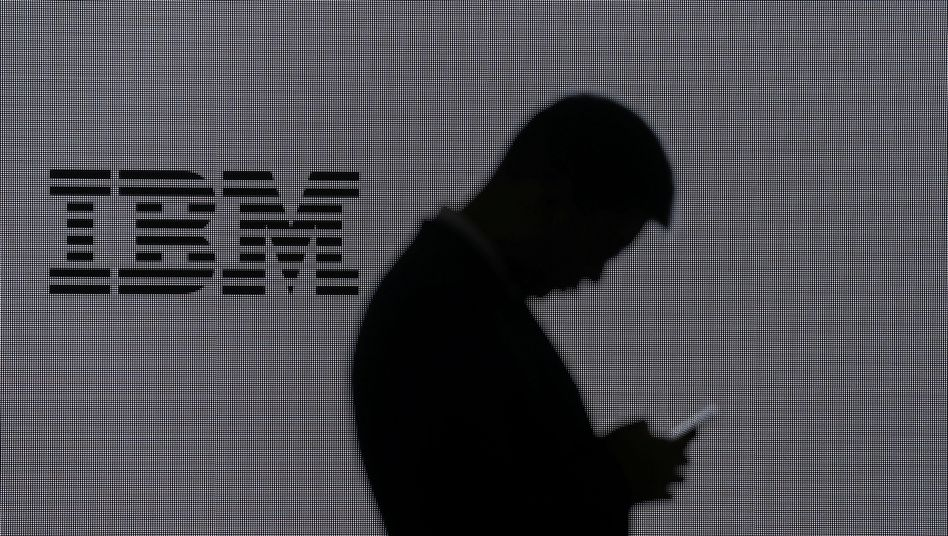 IBM-Logo beim Mobile World Congress in Barcelona (Archivaufnahme)
