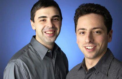 Gut gegründet: Larry Page, Sergey Brin