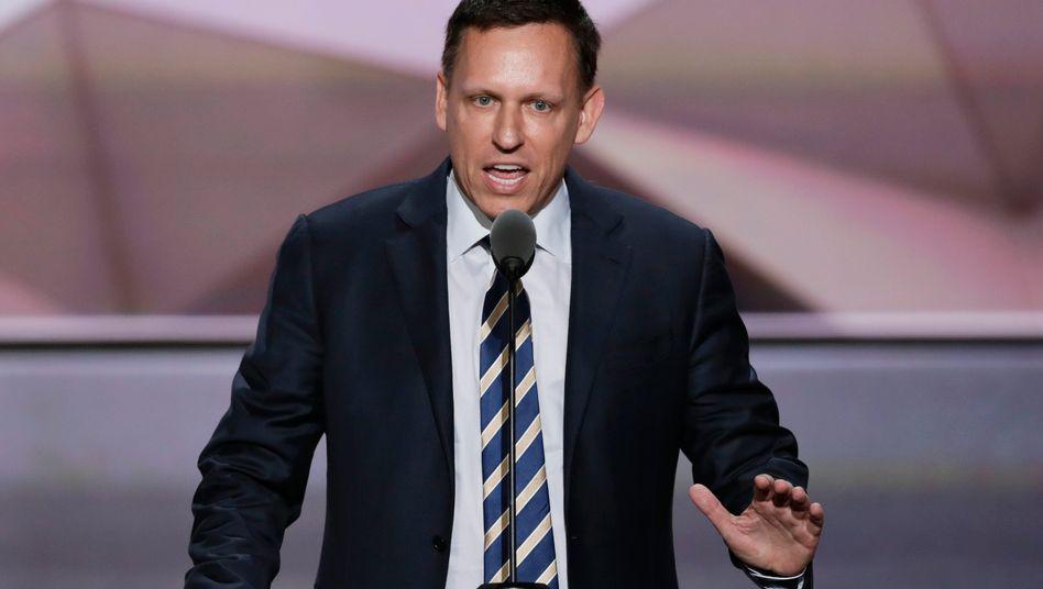 Peter Thiel während des Parteitags der Republikaner im Juli dieses Jahres