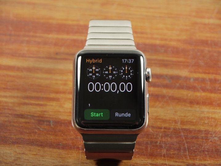 Apple Watch: Man kann natürlich auch selbst noch eine Stoppuhr mitnehmen - aber Veranstalter bei offiziellen Läufen setzen auf Championchips und digitale Erfassung statt manueller Zeitnahme