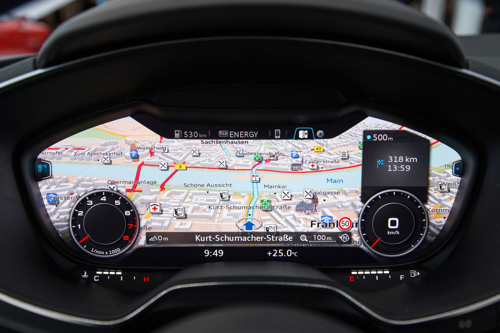 2014 / Audi TT / Lenkrad / Navigation