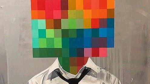 """VERPIXELT Gemälde """"System Failure 1"""" (2018) von Sage Barnes"""