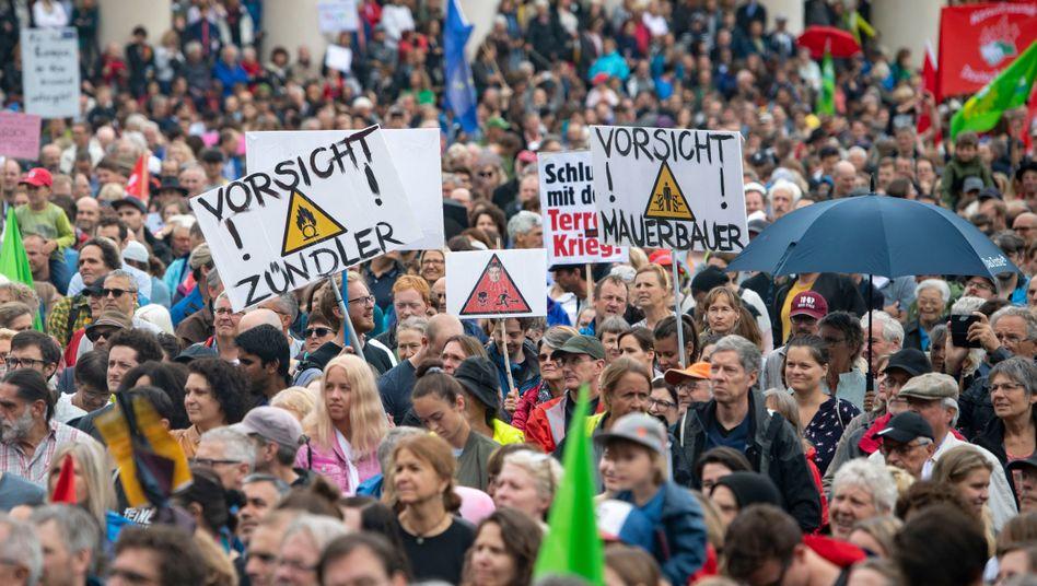 Demonstration in München: Was bewegt die Leute wirklich? Das Thema Zuwanderung ist nur eines von vielen.