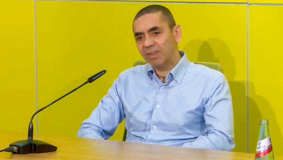 Zuversichtlich: Biontech-Chef Uğur Şahin auf der virtuellen Pressekonferenz am Dienstag