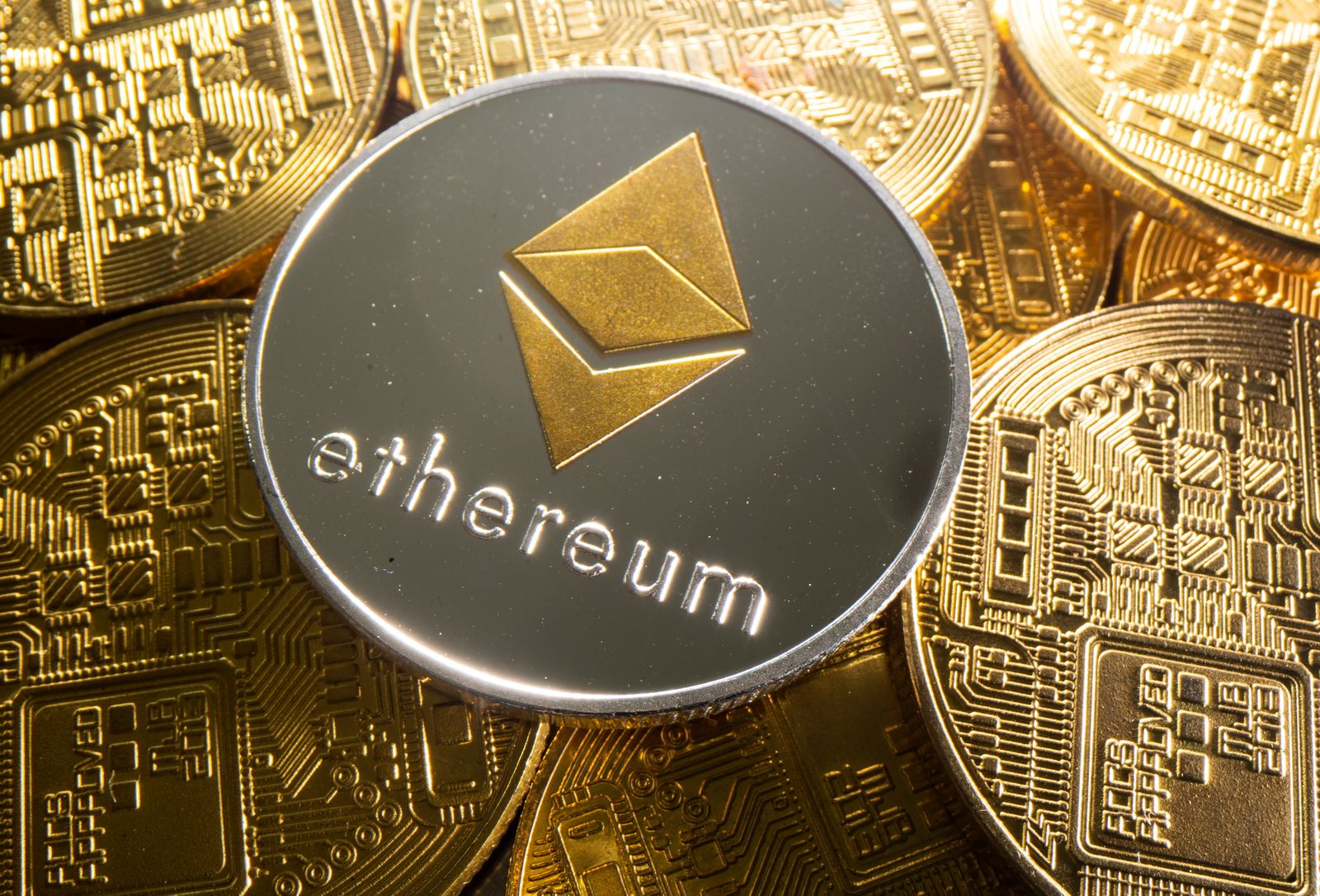 Representation of cryptocurrency Ethereum is seen in this illustration