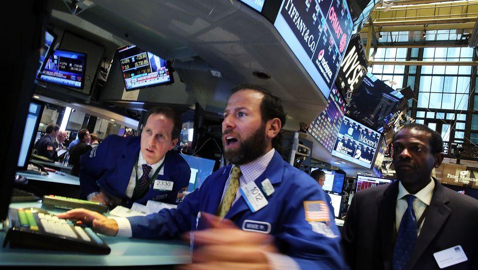 Hektik am Aktienmarkt: An der New Yorker Börse überwiegt derzeit der Optimismus - aber wie lange noch?
