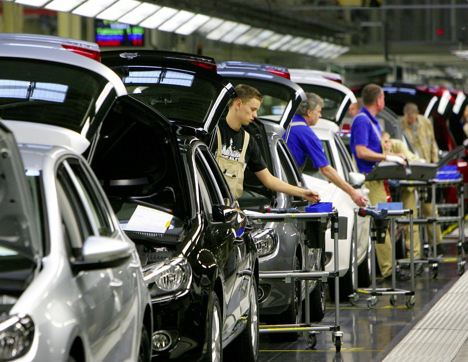 VW-Produktion Fließband Auto