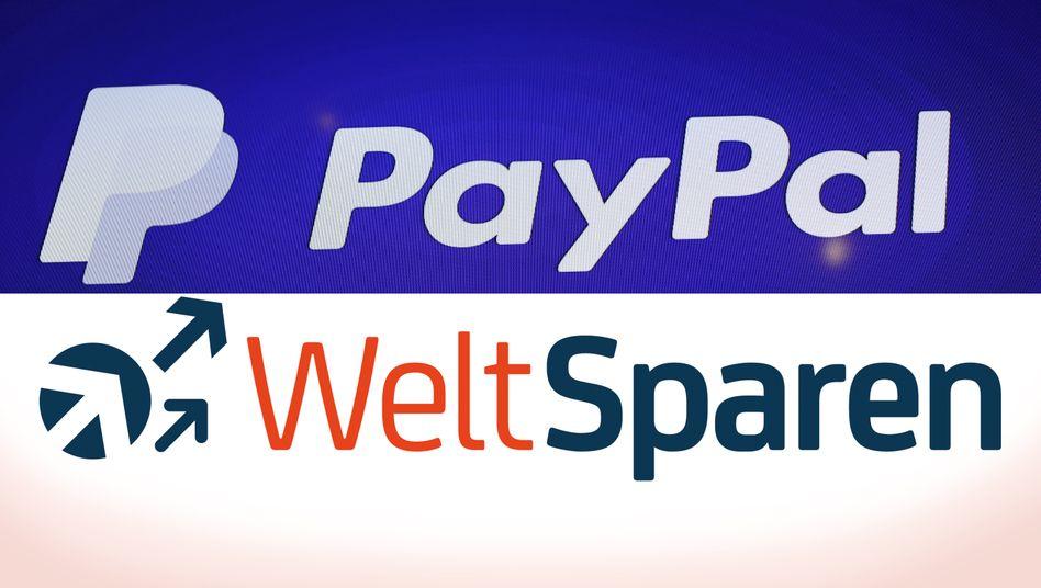 Künftig zusammen: Paypal und Weltsparen