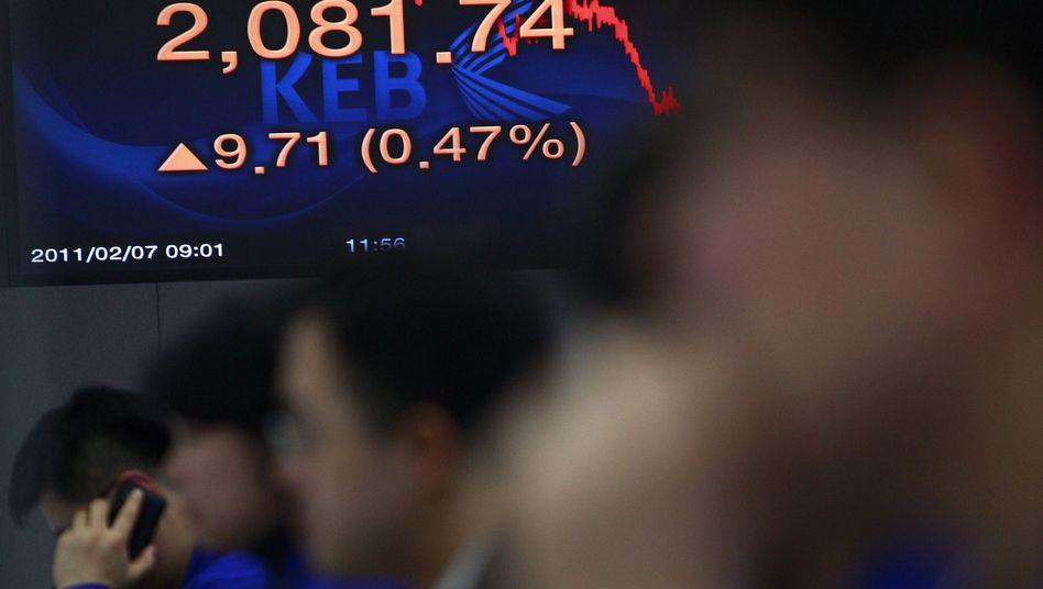 Börse in Seoul: Die Finanzaufsicht in Südkorea prüft, ob die Deutsche Bank womöglich den Kurzsturz im vergangenen November mit zu verantworten hat
