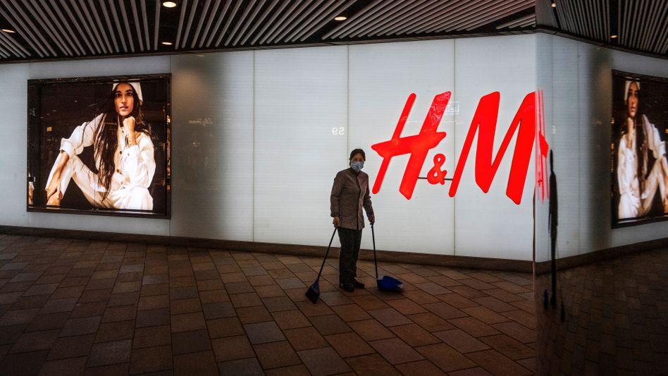 H&M-Filiale in Peking: In mehreren chinesischen Einkaufszentren wurden dem schwedischen Fast-Fashion-Einzelhändler Mietverträge gekündigt